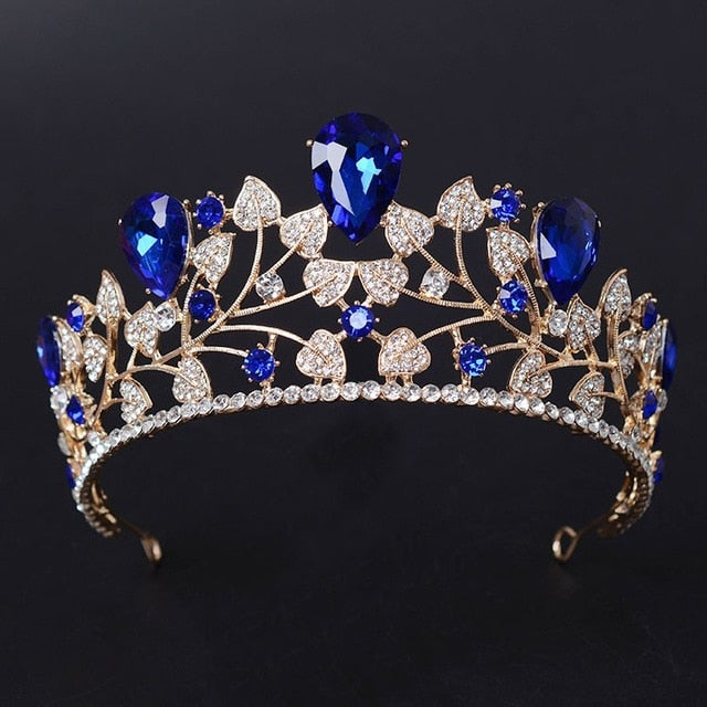 New Arrival Magnificent Blue Red Rhinestone