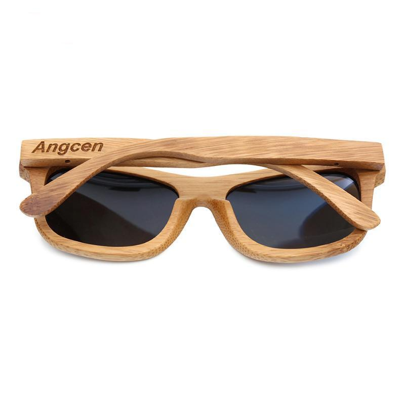 New Stylish Polarised Bamboo Sunglasses