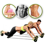 Dual Wheels Ab Roller- Full Body Workout