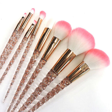 Crystal 8 PCS Unicorn Soft Makeup Brush Set