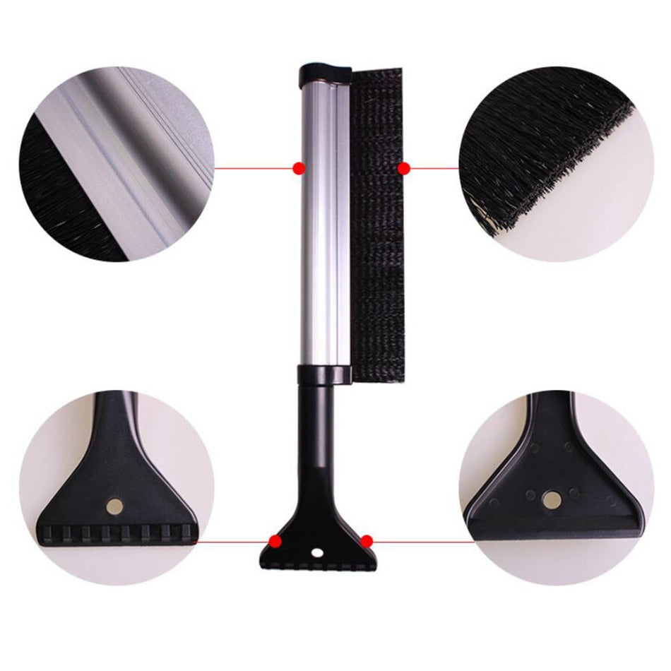 Extendable 2 in 1 Snow Brush/Scraper
