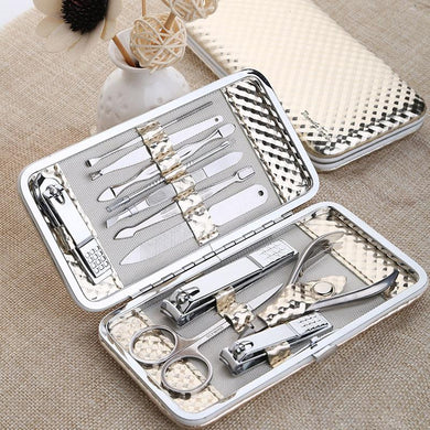 12 Pc Set Gold Nail Art Manicure Set