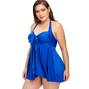 Tummy Control Plus Size Backless Swimsuit
