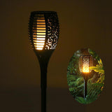 Solar powered LED Waterproof Flame Lamp
