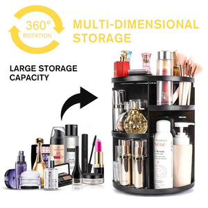 Large Rotating 360 Degree Makeup Organizer