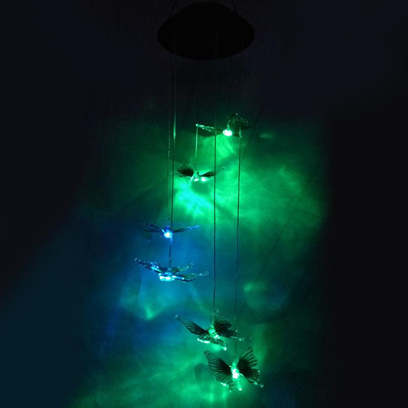 Solar LED Colorful Wind Chime