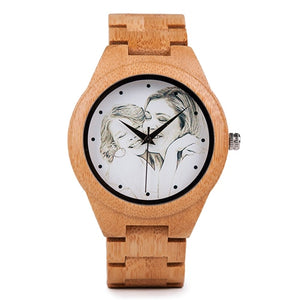 Custom Image Wooden Watch Christmas Gift