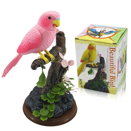Voice activated cute singing bird