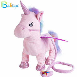 Electric Walking Unicorn Plush Toy/ Gift