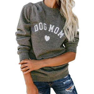 Heart-shaped Dog Mom Cute Sweatshirt
