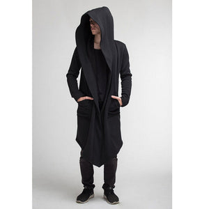 Warm Hooded Gothic Sweatshirt With Pockets