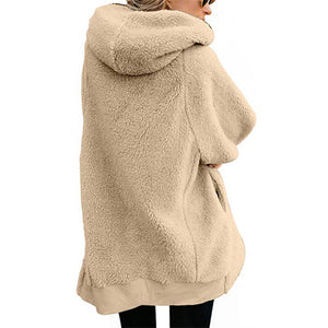 Warm Long Winter Fleece Hoodie