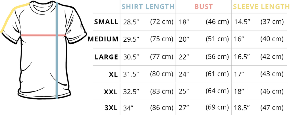 Standard T-Shirt Fit Guide