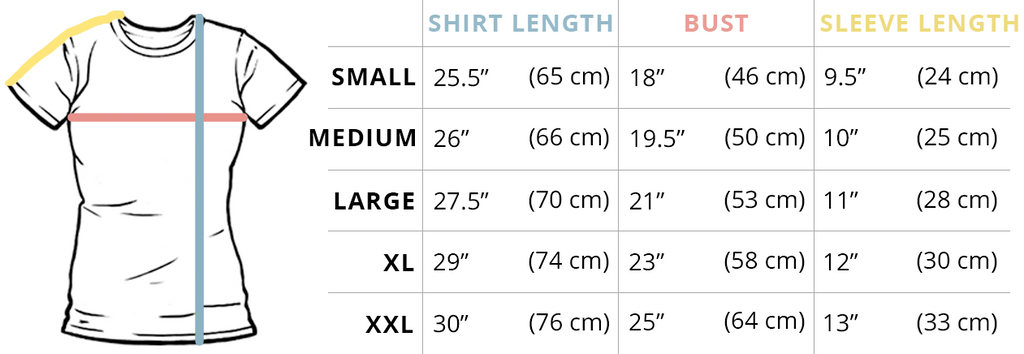 Women's T-Shirt Fit Guide