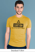 Caution: Glass Ceiling About to Shatter Yellow Standard t-shirt Model Simply Fearless