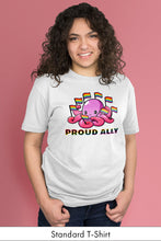 Proud Ally White Standard t-shirt Model Simply Fearless