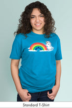 Tasty Rainbow Turquoise Standard t-shirt Model Simply Fearless