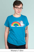Tasty Rainbow Turquoise Women's t-shirt Model Simply Fearless