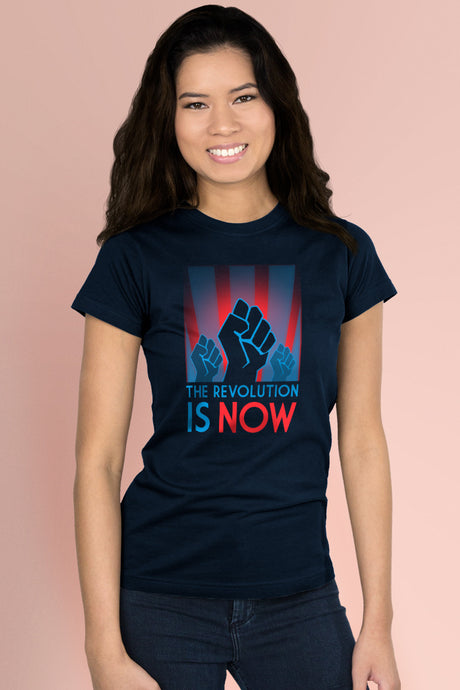 The Revolution is Now Navy Blue t-shirt Simply Fearless