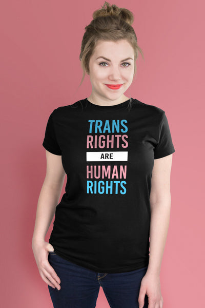 Trans Rights Are Human Rights Black t-shirt Simply Fearless