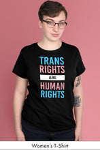 Trans Rights Are Human Rights Black Women's t-shirt Model Simply Fearless
