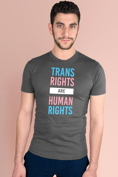 Trans Rights Are Human Rights Dark Gray t-shirt Simply Fearless