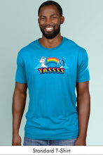 Yasss! turquoise standard t-shirt model Simply Fearless