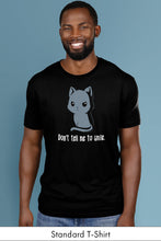 Don't tell me to smile Black standard t-shirt model Simply Fearless