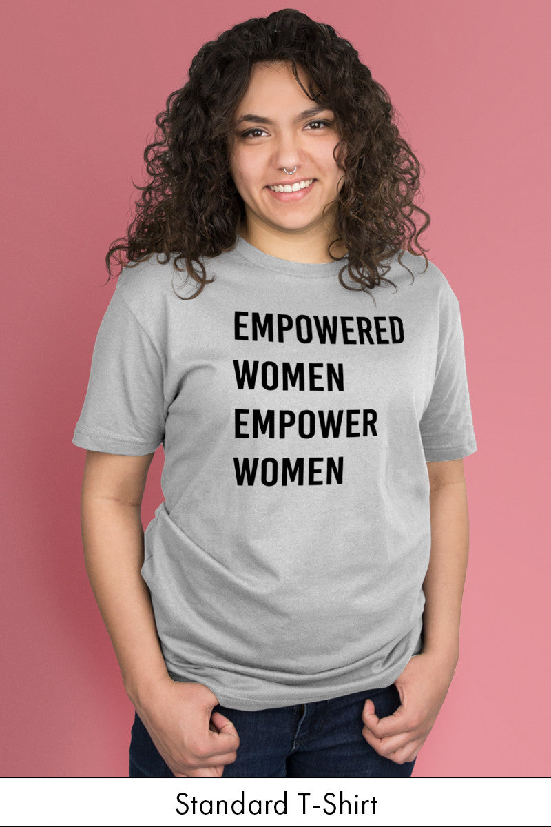 Empowered Women Empower Women Light Gray Standard t-shirt Model Simply Fearless