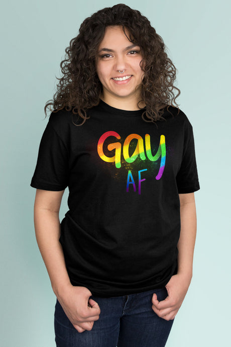 Gay AF Black t-shirt Simply Fearless