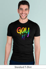 Gay AF Black Standard t-shirt Model Simply Fearless