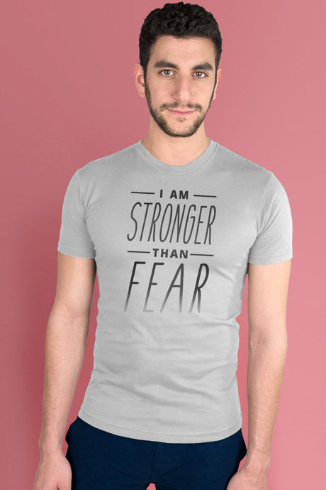 I Am Stronger Than Fear Light Gray t-shirt Simply Fearless