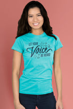 Let Your Voice be Heard Caribbean Blue t-shirt Simply Fearless