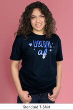 Liberal AF Navy Blue Standard t-shirt Model Simply Fearless