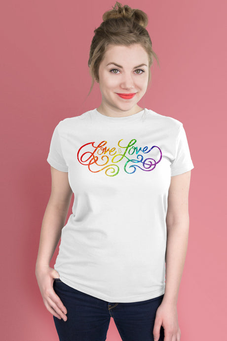 Love is Love White t-shirt Simply Fearless