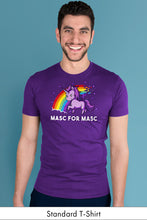 Masc for Masc Purple Standard t-shirt Model Simply Fearless