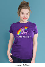 Masc for Masc Purple Juniors t-shirt Model Simply Fearless