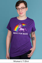 Masc for Masc Purple Women's t-shirt Model Simply Fearless
