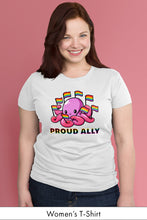 Proud Ally White Women's t-shirt Model Simply Fearless