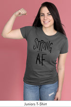 Strong AF Dark Gray Juniors t-shirt Model Simply Fearless