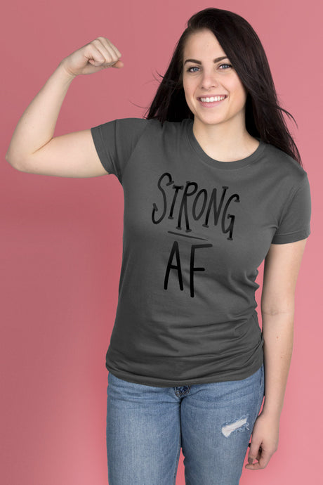 Strong AF Dark Gray t-shirt Simply Fearless