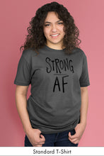 Strong AF Dark Gray Standard t-shirt Model Simply Fearless