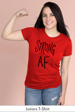 Strong AF Red Juniors t-shirt Model Simply Fearless