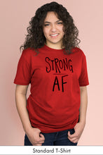 Strong AF Red Standard t-shirt Model Simply Fearless