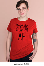 Strong AF Red Women's t-shirt Model Simply Fearless