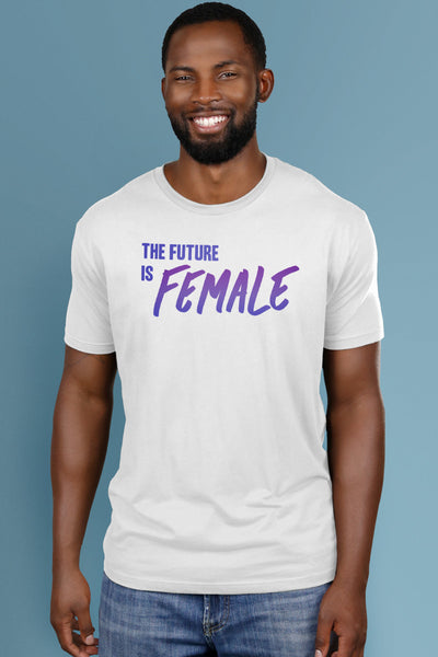 The Future is Female White t-shirt Simply Fearless