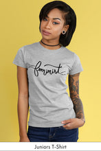This is What a Feminist Looks Like Light Gray Juniors t-shirt Model Simply Fearless