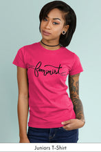 This is What a Feminist Looks Like Hot Pink Juniors t-shirt Model Simply Fearless