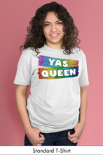 Yas Queen Rainbow on White Standard t-shirt Model Simply Fearless