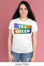 Yas Queen Rainbow on White Juniors t-shirt Model Simply Fearless